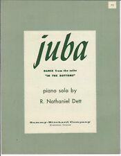 Piano Sheet Music JUBA By Black Composer R. Nathaniel Dett 1913