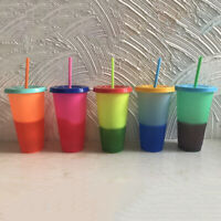 Unique Plastic Temperature Color Changing Cold Cup Summer Drink Water Mug
