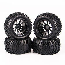 4X 12mm Hex RC Tires&Wheel Rim 26201-08 For 1/10 Bigfoot Monster Truck Traxxas