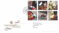 7 JUNE 2005 TROOPING THE COLOUR ROYAL MAIL FIRST DAY COVER BUREAU SHS