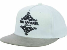 Kings Apparel Regal 2 Tone White & Gray Adjustable Strapback Flat Bill Cap