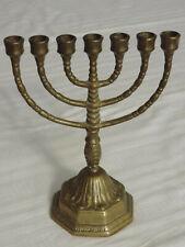Davidleuchter Menora Kerzenleuchter Kerzenhalter  7 armiger,massiv Messing .