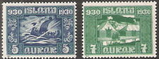 Iceland 1930 Millenary of Althing Icelandic Parliament MNH (SC#153-154)