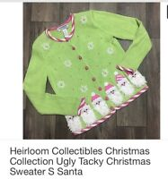 Heirloom Collectibles Christmas Collection Ugly Tacky Christmas Sweater S Santa
