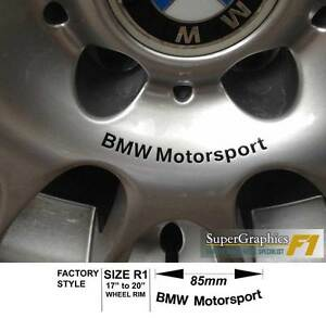 To fit a BMW Motorsport wheel centre decal sticker 85mm x4 choose from 9 colours