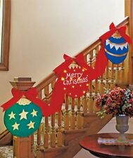 8-Ft Led Lighted Christmas Decor Bunting Garland Banner Ornament Mantel Stairway