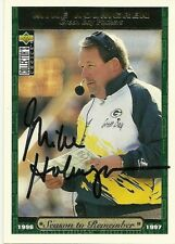 1996 Upper Deck MIKE HOLMGREN Signed Card PACKERS autograph SUPER BOWL auto