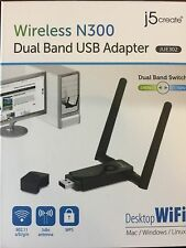 J5 Create JUE302 Wireless N300 Dual Band USB Adapter for Windows, Mac and Linux