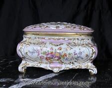 SEVRES porcelaine boîte à bijoux floral bijou cas