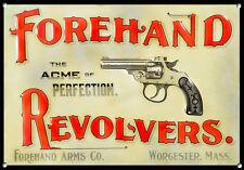 FOREHAND Revolver, stile vintage, metallo segno, da collezione, smalto, no.611