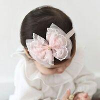 Girl Kids Headwear Bow Hairband Lace Chiffon Baby Headband