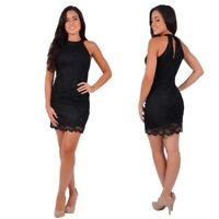 JUMP APPAREL NEW $89 Black Metallic Lace Halter Neck Dress Juniors 11 / 12