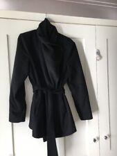 Ted Baker Black Wrap Coat Size 5 14-16