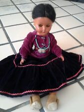 "Vintage Authentic Dressed 11"" Indian Doll"