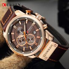 CURREN Men Quartz Watches Causal Leather Strap Business Male Calendar Wristwatch