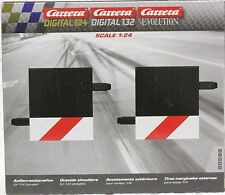 CARRERA 20589 1/4 STRAIGHT TRACK OUTSIDE SHOULDER NEW 1/24,1/32 SLOT CAR TRACK