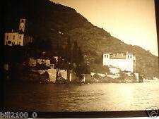 photo ancienne.plaque positif . Italie. Italia. Bellagio  .vers 1900