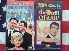 The Thrill of It All & Lover Come Back (VHS, 1963/1961) Doris Day Video Lot RARE
