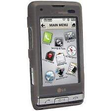 AMZER Rubber Soft Skin Fit Jelly Case Cover for LG Dare VX9700 - Grey