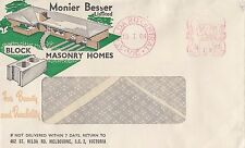 Stamp Australia 5d meter postmark on Monier Besser Melbourne advertising cover