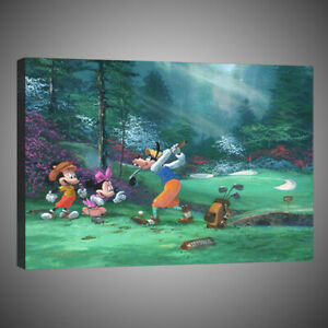 Art Painting Home Wall Decor Disney Mickey Mouse Goofing Canvas Print 12x16