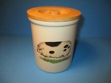 Pimpernel Ceramic PIG Sow Canister With Wood Lid England Design