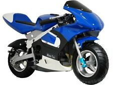 MotoTec Gas Pocket Bike Air Cooled Mini Motorcycle Blue MT-GP_Blue Age 13+