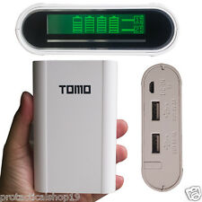 TOMO 18650 Li-ion Battery Anti-overcharge Smart Fast Charger LCD Power Bank W