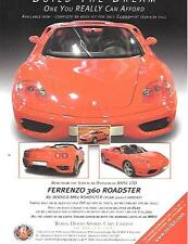ROBIN HOOD ENGINEERING FERRARI 360 REPLICA KIT CAR SALE 'BROCHURE'/SHEET