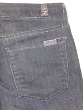 7 for all Mankind Jeans Lucy SKINNY Ankle Dark Blue Resisn Coat Sz 24