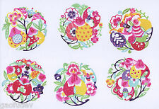 Paper Cuts Fortune and Long Life Peach Set 10 small colorful pcs 1 packet Lot