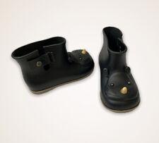 Mini Melissa toddler girls SZ 9 Childr Black Rhino Animal slip on PVC rain boots