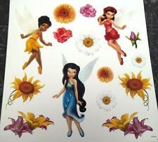 Stickers muraux paillettés décoration fille fées les amies de Clochette