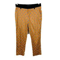 Zara Womens Funky Pants Size XS Geometric With Pockets Good Condition