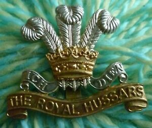 The Royal Hussars Regiment Cap Badge RH Badge Bi-Meal Slider