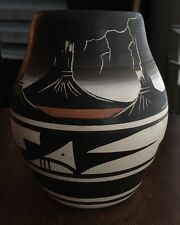 Vintage Navajo Indian Pottery Vase Signed