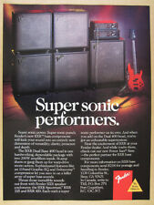 1989 Fender BXR Dual Bass 400 Head Cabinets Power Jazz Guitar vintage print Ad