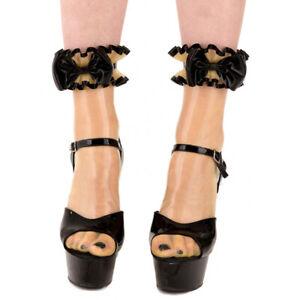 730 Latex Rubber Gummi Ruffles Bow Stocking Socks customized 0.4mm catsuit sexy