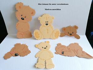 Stanzteile Kartenschmuck Aufleger Scrapbooking Sticker Bärenrohlinge Bärchen