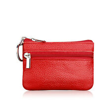 Mini Leather Coin Purse Clutch Zipper Wallet Women Men Small Change Soft Bag Acc