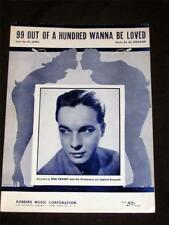 30's 1933 Bob Crosby hit 99 Out Of a Hundred Wanna Be Loved sheet music