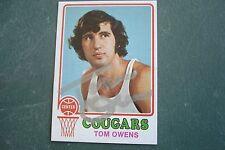 TOM OWENS 1973-74 Topps #189 Signed ABA Carolina COUGARS Autograph