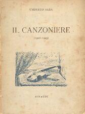 SABA Umberto, Il Canzoniere (1900-1945). Prima edizione