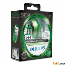 PHILIPS ColorVision H4 12V 60/55W P43t-38 Green Effect Set 12342CVPGS2