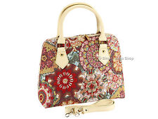 Signare Ladies Tapestry Handbag Shoulder Convertible Bag In  Kaleidoscope Design