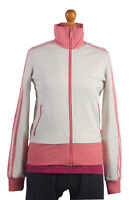 Vintage ADIDAS Rain Coat Windproof Jacket Retro White, Pink Chest 39'' SW1314
