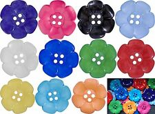CHOOSE YOUR COLOURS 10 LARGE GIANT FLOWER CLOWN BUTTONS FANCY DRESS COSTUMES