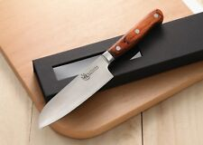 KATSURA Japanese VG-10 3-Layer Forged Steel Small Santoku Knife, 5in vs Ran Shun