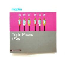 Maplin Triple Phono 1.5m ( RCA Connection )- Gold plated Connectors - BRAND NEW