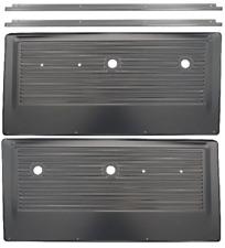 67-72 Chevy/GMC Pickup Truck Black Interior Door Panels w/ Chrome Trim & Screws